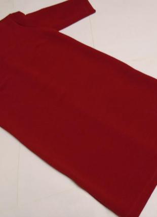 Красное прямое платье ботал!!! (46-48 евро)3