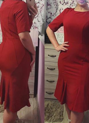 Красное платье1