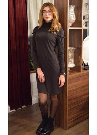 Стильное трикотажное платье oddi2