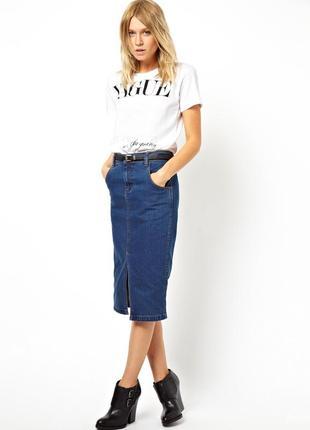 Пристраиваю классическую джинсовую юбку-карандаш1