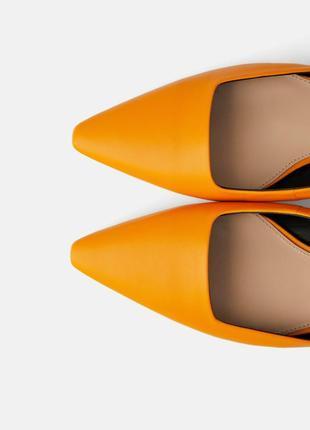 Кожаные туфли босоножки zara с ремешком3
