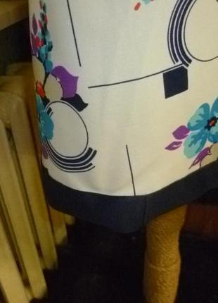 Красивое летнее трикотажное платье,винтаж,с цветочным принтом,короткий рукав7