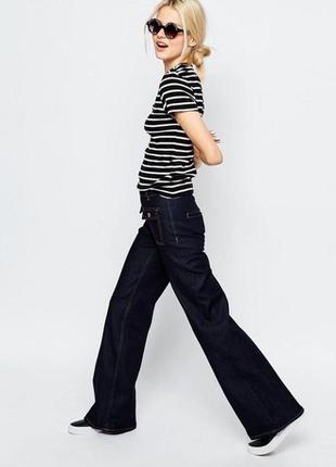 Джинсы брюки клеш monki asos новые с биркой xs s3