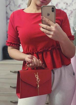 Красная блуза кофточка