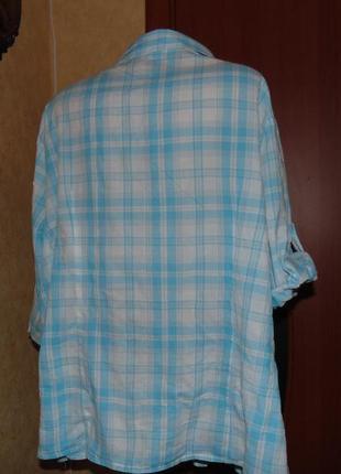 Натуральная блуза ботал!!!  очень большого размера 56-582