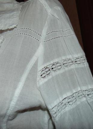 Белоснежная натуральная блуза2