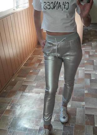 Мега крутой кожаный костюм, серебро, размер с-м, новый7