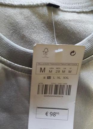 Мега крутой кожаный костюм, серебро, размер с-м, новый2