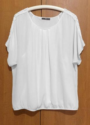 Белая блуза большой размер батал 3xl2