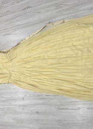 Плиссированное платье макси с перекрестной отделкой и бантом на спине tfnc5