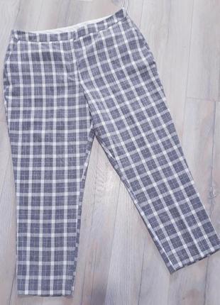 Літні трендові штани бріджи в клітинку / летние трендовые брюки бриджи в клетку2