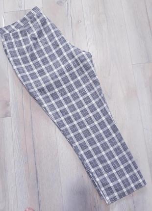 Літні трендові штани бріджи в клітинку / летние трендовые брюки бриджи в клетку3