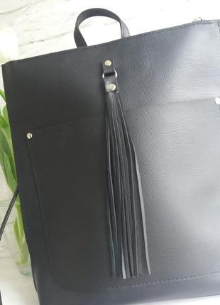 Кожаный рюкзак5