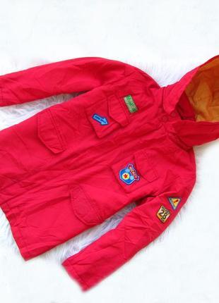 Стильная демисезонная куртка парка с капюшоном disney mickey club
