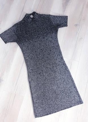 Тренд: сукня гольф з люрексом / платье гольф с люрексом1