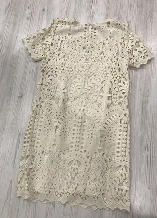 Кружевное платье футляр4