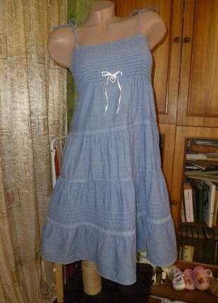 Классный натуральный батистовый летний сарафан-юбка,индия5