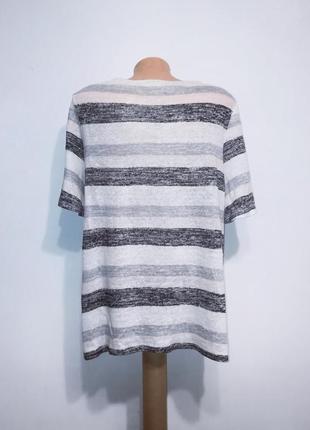 Льняная трикотажная блуза в полоску в пастельных тонах, phase eight, xl2