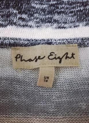 Льняная трикотажная блуза в полоску в пастельных тонах, phase eight, xl4