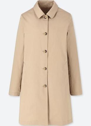 Плащ непромокаемый women blocktech soutien collar coat от uniqlo2