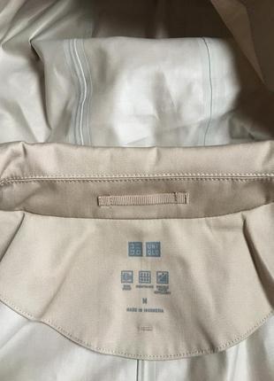 Плащ непромокаемый women blocktech soutien collar coat от uniqlo10