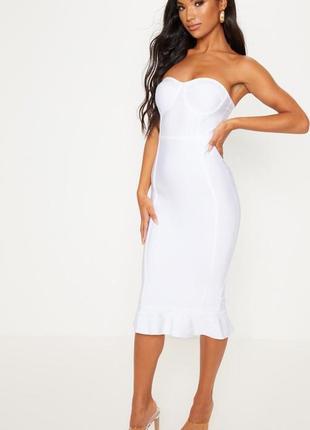 Бандажное платье миди plt3 фото