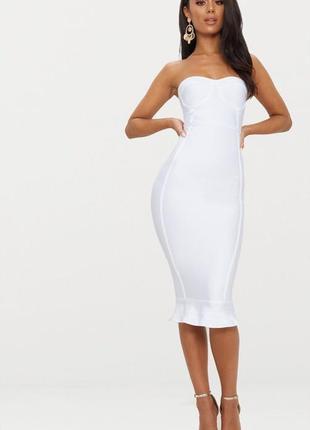 Бандажное платье миди plt6 фото