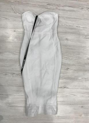 Бандажное платье миди plt7 фото