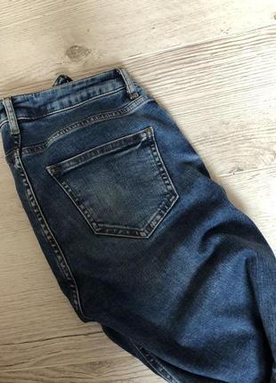 Обалденные штаны джинсы 👖 скинни необработанный край с вышивкой рваные8