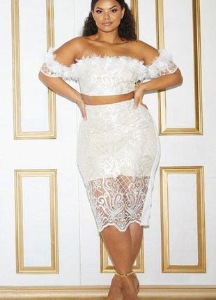 Кружевная юбка миди2