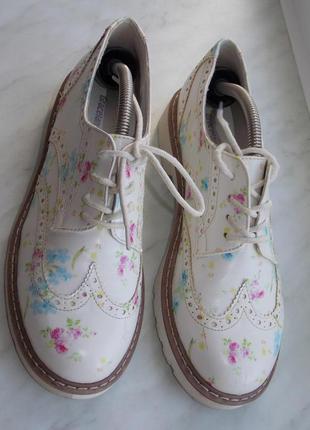 """Броги р.38 """"graceland"""" эко кожа весенние туфли/оксфорды в идеале 24.7 см1"""