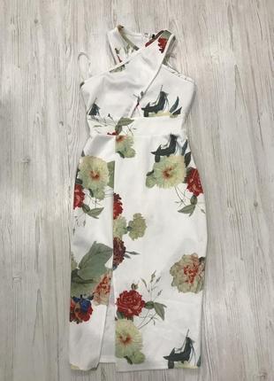 Нежное цветочное платье миди3