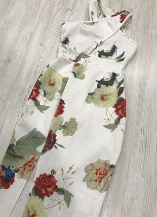 Нежное цветочное платье миди2