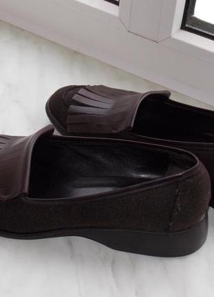 "Весенние туфли р.38 ""dkny"" оригинал, нат.кожа+ ткань , в отл.сост. 25 см4"