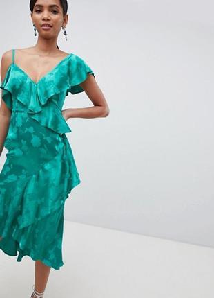 Платье миди из жаккарда asos design4 фото