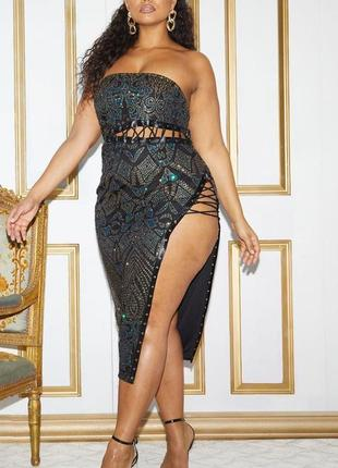 Ефектное платье миди со шнуровкой2