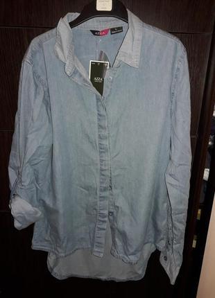 Джинсовая стильная рубашка. р л на укр 44-461