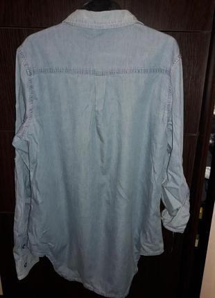 Джинсовая стильная рубашка. р л на укр 44-463