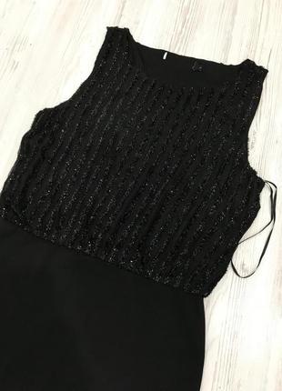 Платье миди с отделкой на топе5