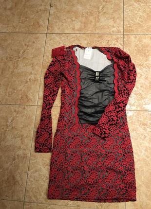 Новое платье с бирочкой, гипюр с вставкой