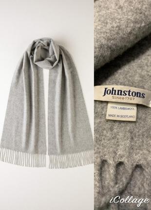 Элитный шотландский шерстяной шарф johnstons /летняя низкая цена