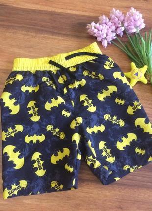 Классные пляжные шорты для парнишки batman 7-8 лет.