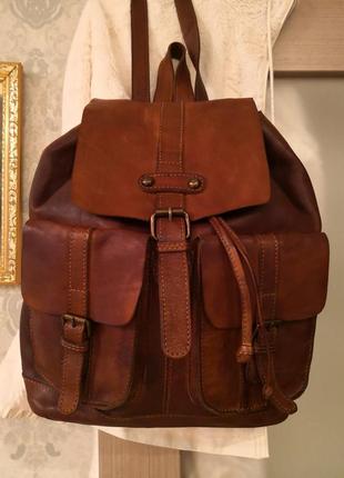 Роскошный большой кожаный рюкзак ashwood. англия.люкс бренд!!!