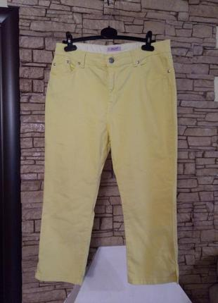Укороченные стрейчевые джинсы,состгяние новых,батал