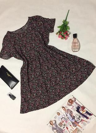 Милое цветочное платье h&m