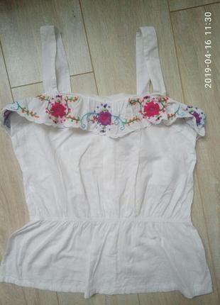 Блуза с вышивкой р.м-л