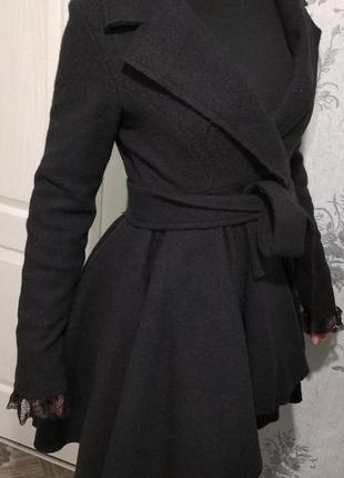 Пальто демисезонное с поясом, размер 42-46
