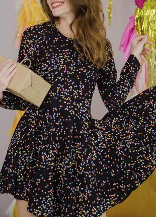 Крутое платье h&m. платье в горох, платье в горошек