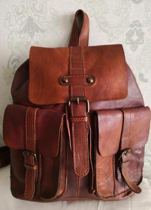 Шикарный бредовый кожаный рюкзак ashwood