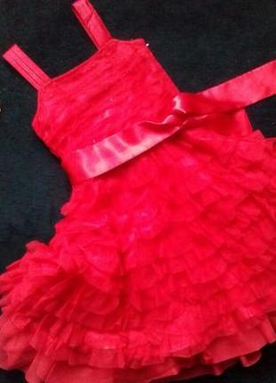 Выпускное платье,5-6л,фатин,пышное